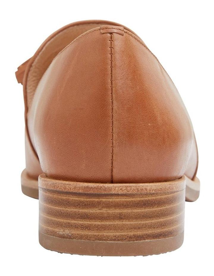Salvador Tan Glove Flat Shoes image 6