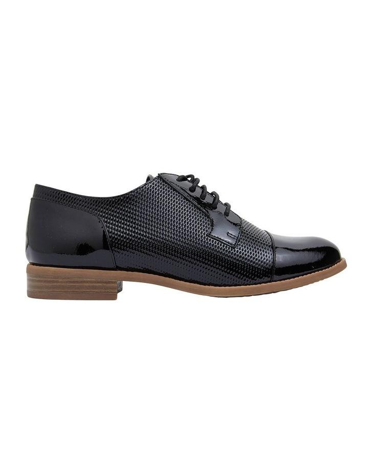 Panache Black Crinkle Patent Flat Shoes image 1