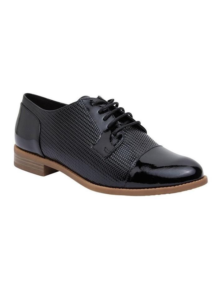 Panache Black Crinkle Patent Flat Shoes image 2