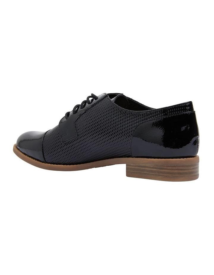 Panache Black Crinkle Patent Flat Shoes image 4