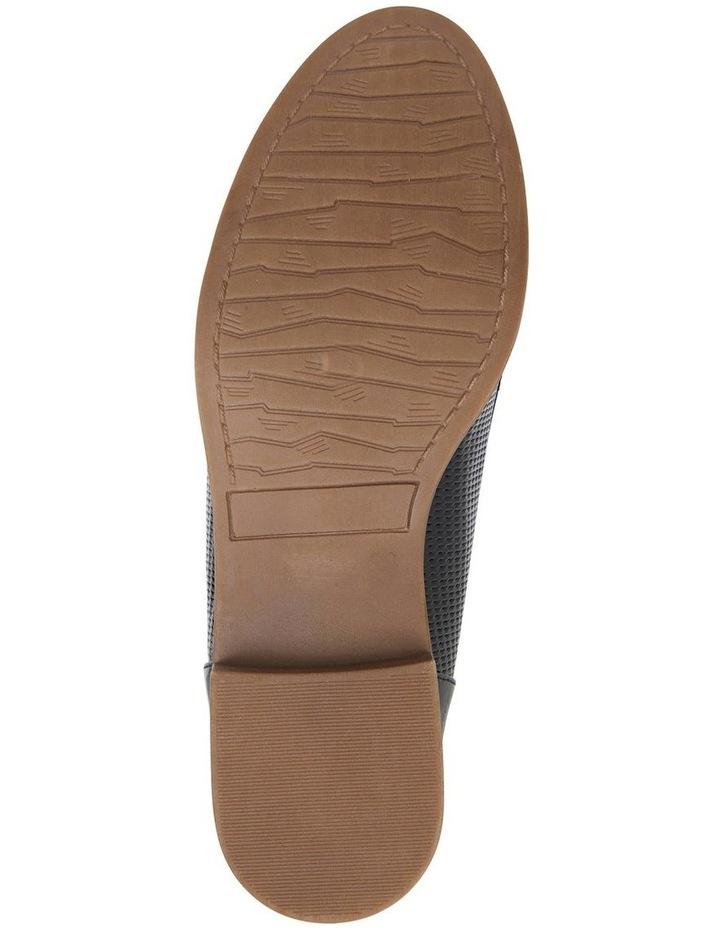 Panache Black Crinkle Patent Flat Shoes image 7
