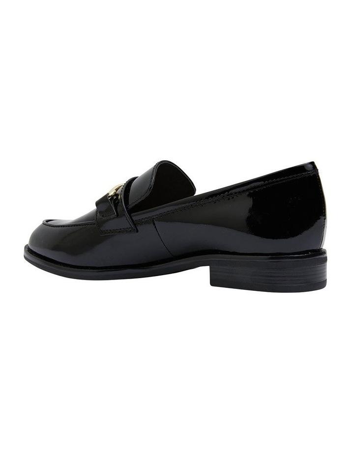 Paragon Black Patent Flat Shoes image 4