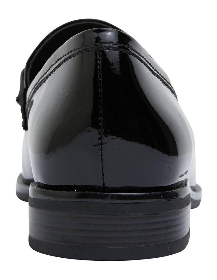 Paragon Black Patent Flat Shoes image 6