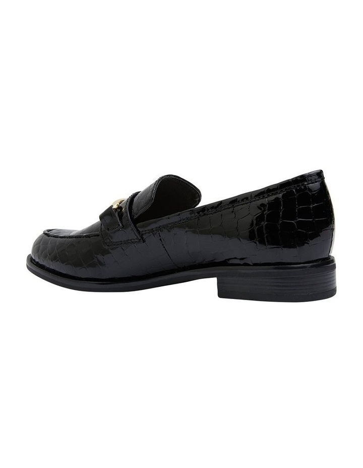 Paragon Black Patent Croc Flat Shoes image 4