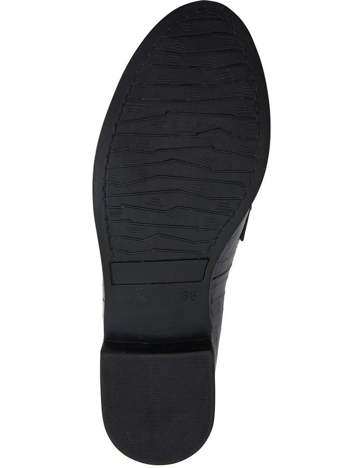 Paragon Black Patent Croc Flat Shoes image 7