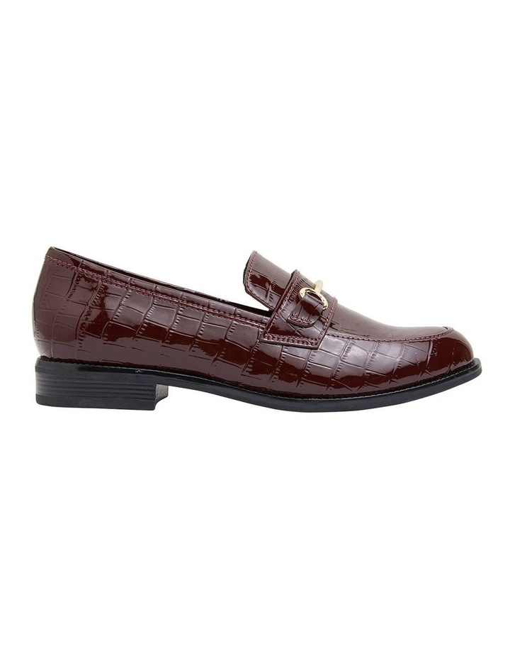Paragon Burgundy Patent Croc Flat Shoes image 1