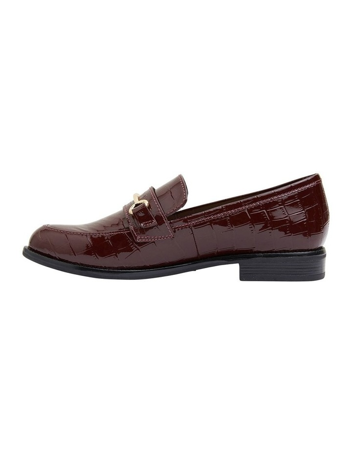 Paragon Burgundy Patent Croc Flat Shoes image 3