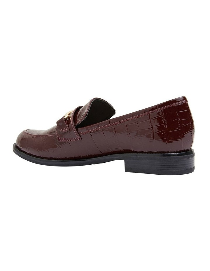 Paragon Burgundy Patent Croc Flat Shoes image 4
