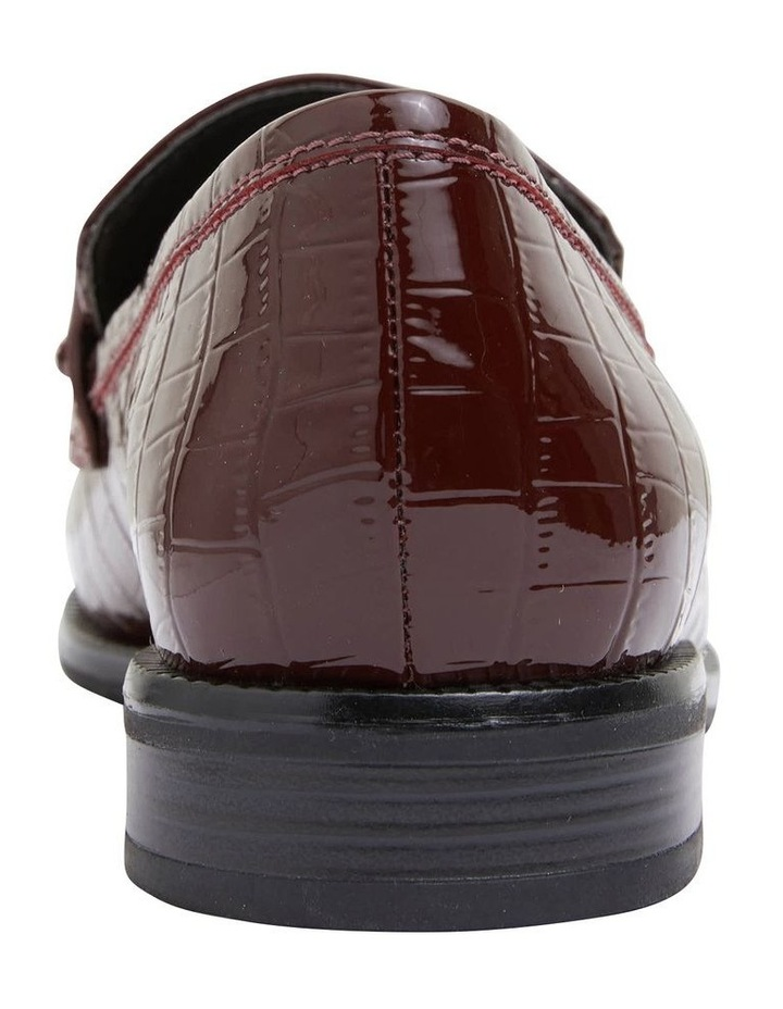 Paragon Burgundy Patent Croc Flat Shoes image 6