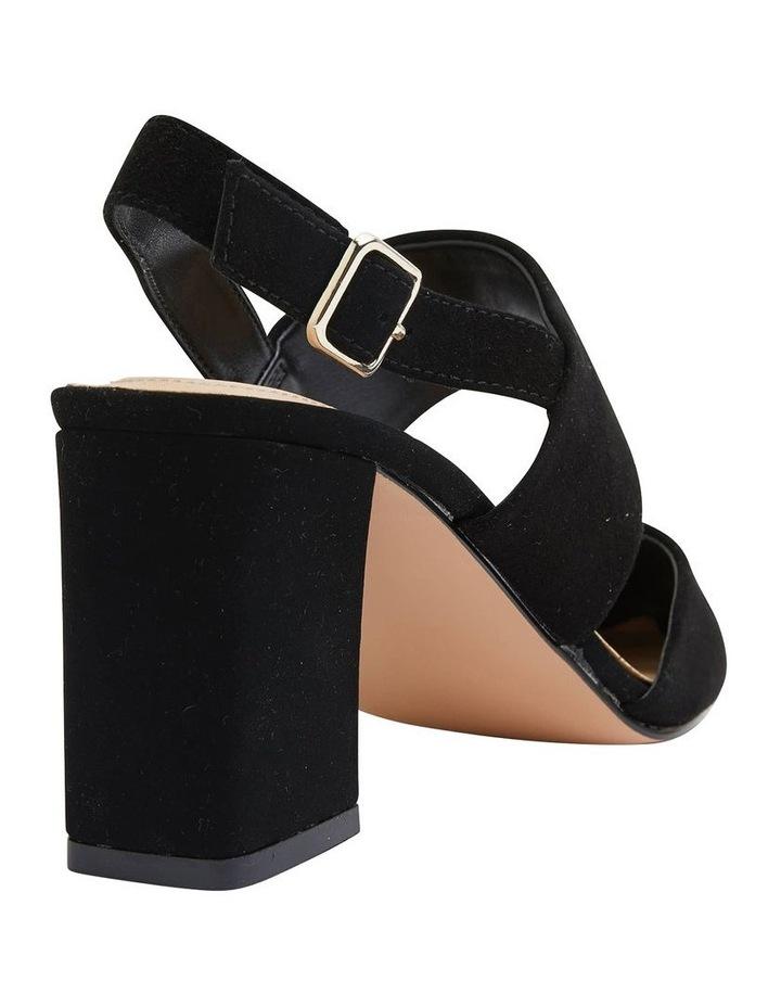 Kitson Black Suede Heeled Shoes image 4