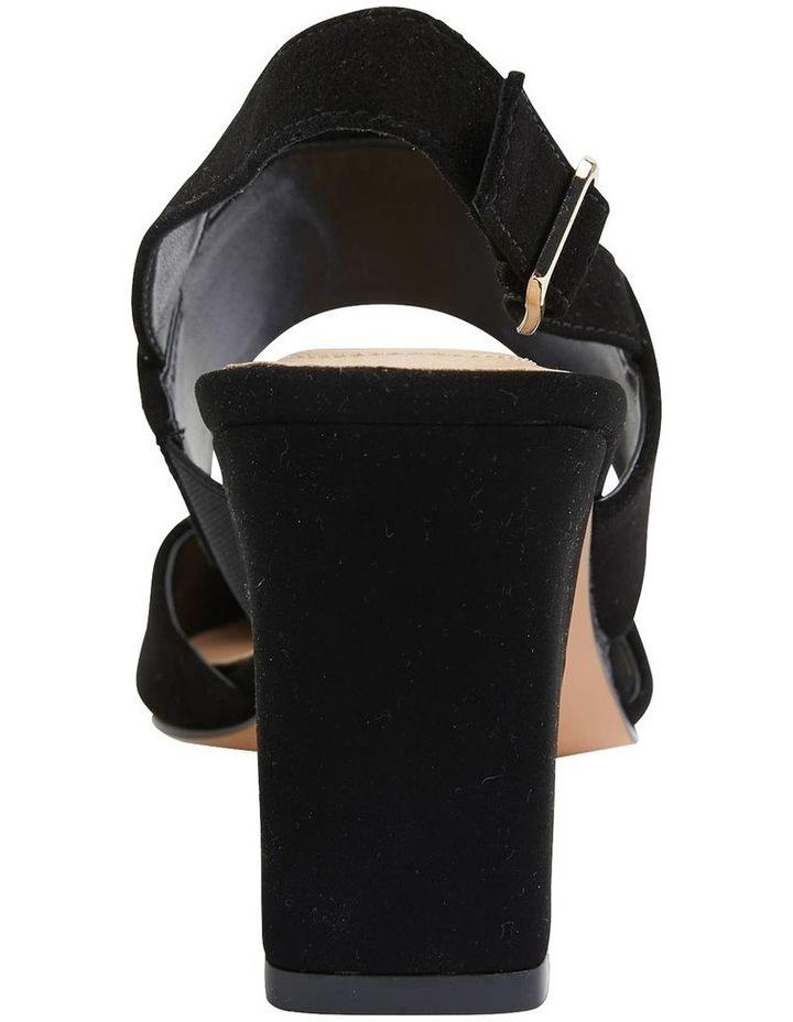 Kitson Black Suede Heeled Shoes image 5