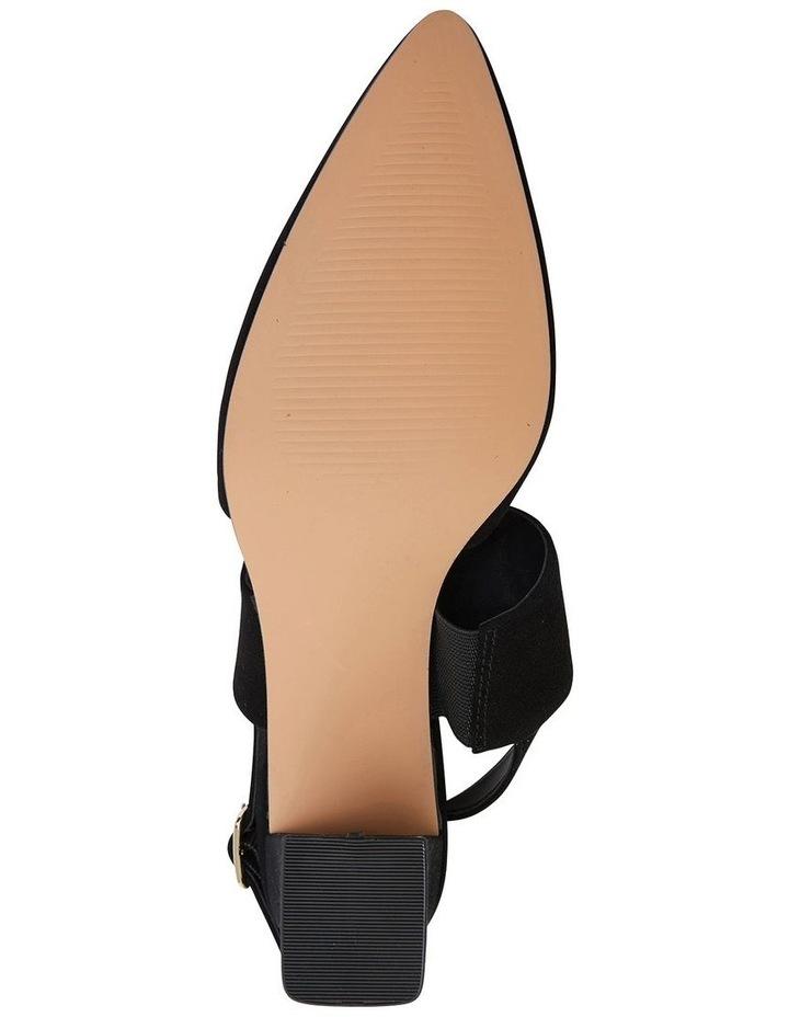 Kitson Black Suede Heeled Shoes image 6