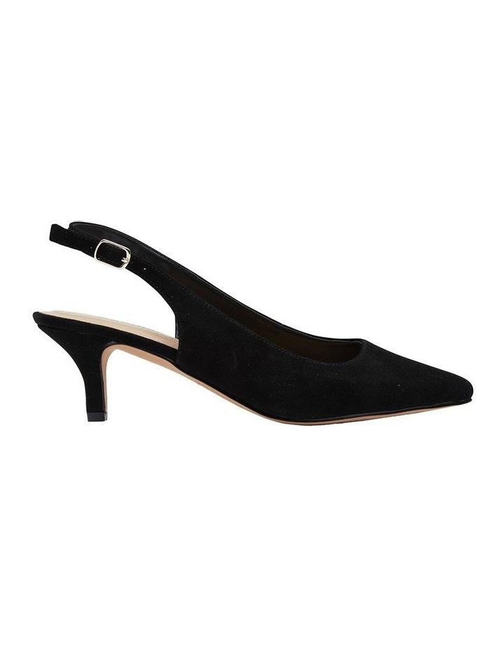 Nina Black Suede Heeled Shoes image 1