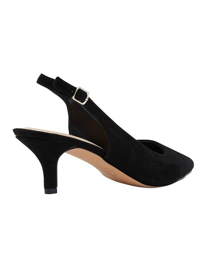 Nina Black Suede Heeled Shoes image 4