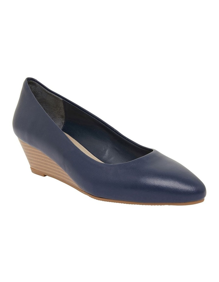 Henry Navy Glove Heeled Shoes image 2