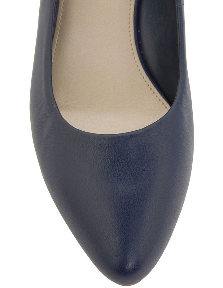 Henry Navy Glove Heeled Shoes image 6