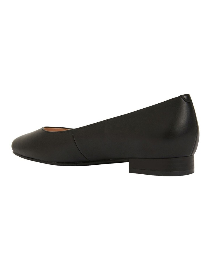 Gaby Black Glove Flat Shoes image 7