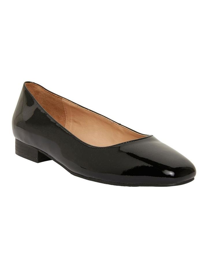 Gaby Black Patent  Flat Shoes image 2