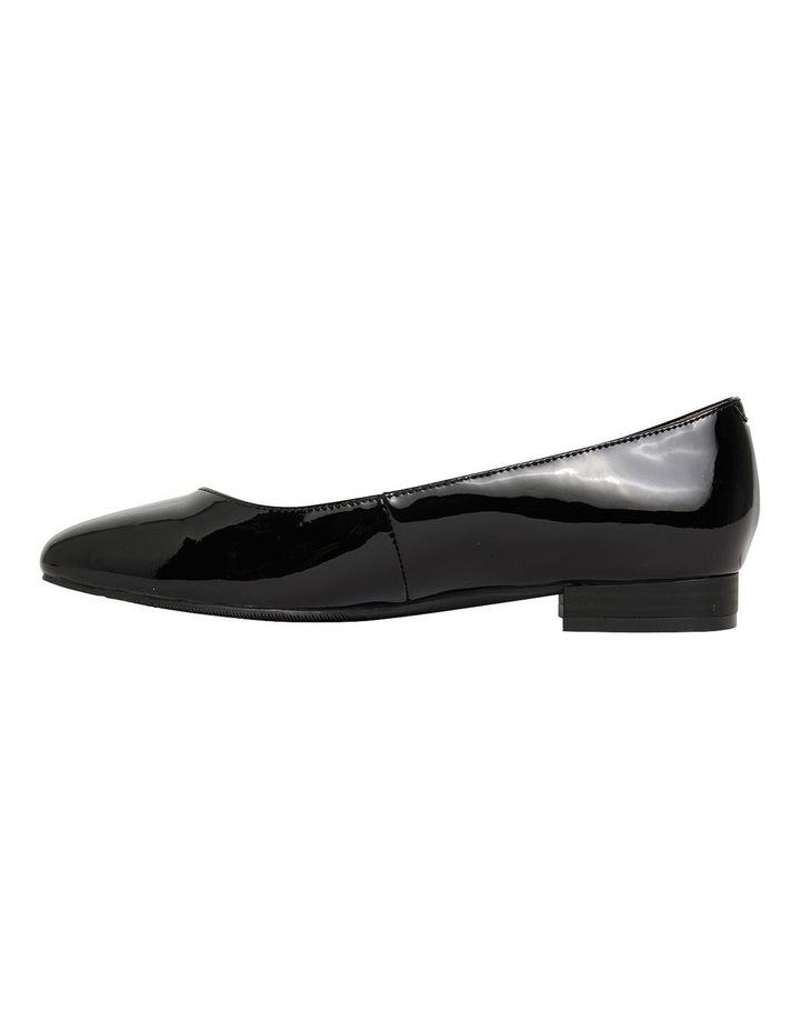 Gaby Black Patent  Flat Shoes image 3