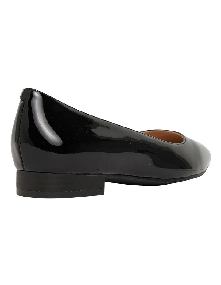 Gaby Black Patent  Flat Shoes image 4