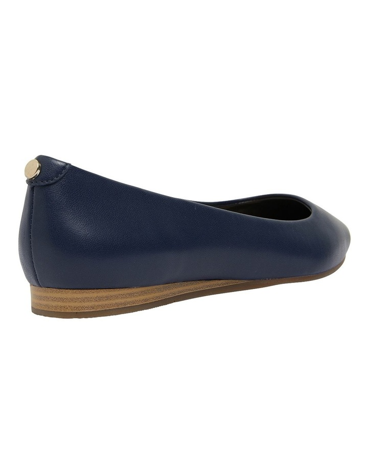 Laura Navy Glove Flat Shoes image 4