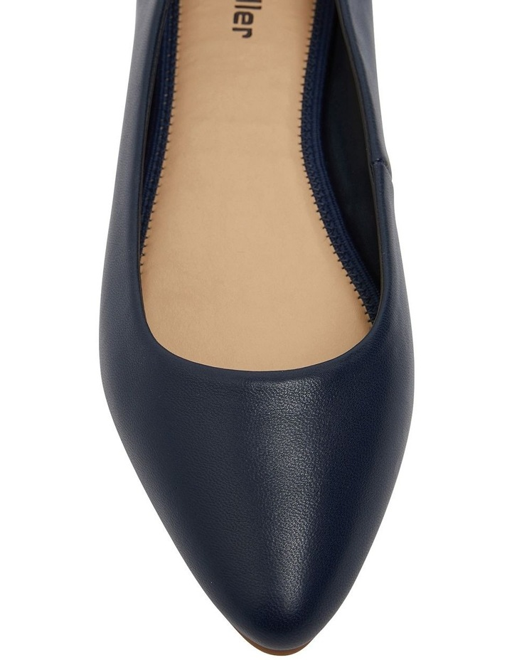 Laura Navy Glove Flat Shoes image 6
