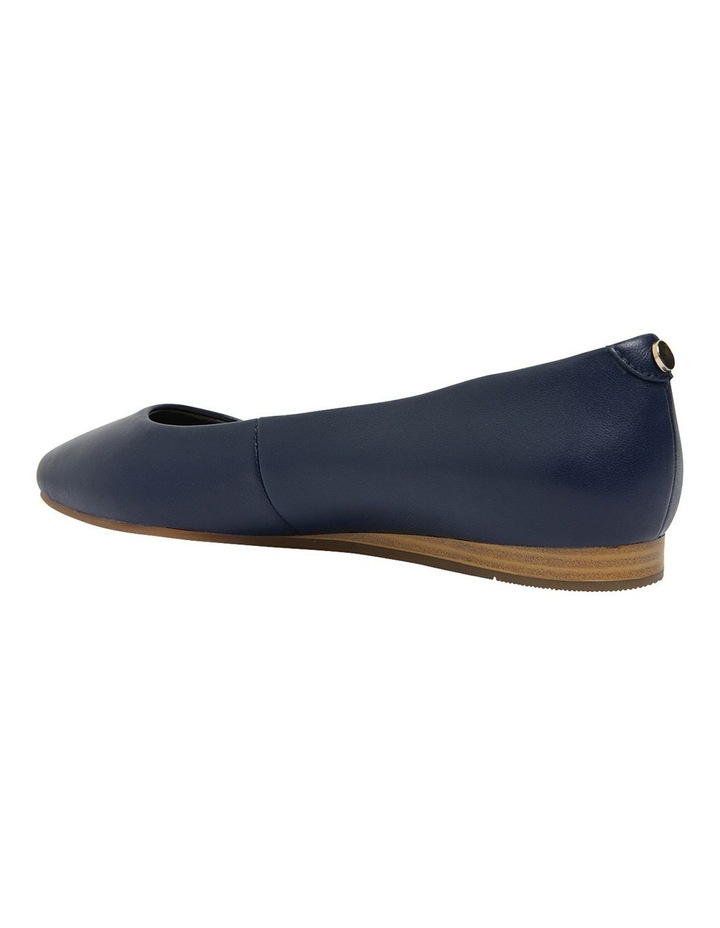 Laura Navy Glove Flat Shoes image 7