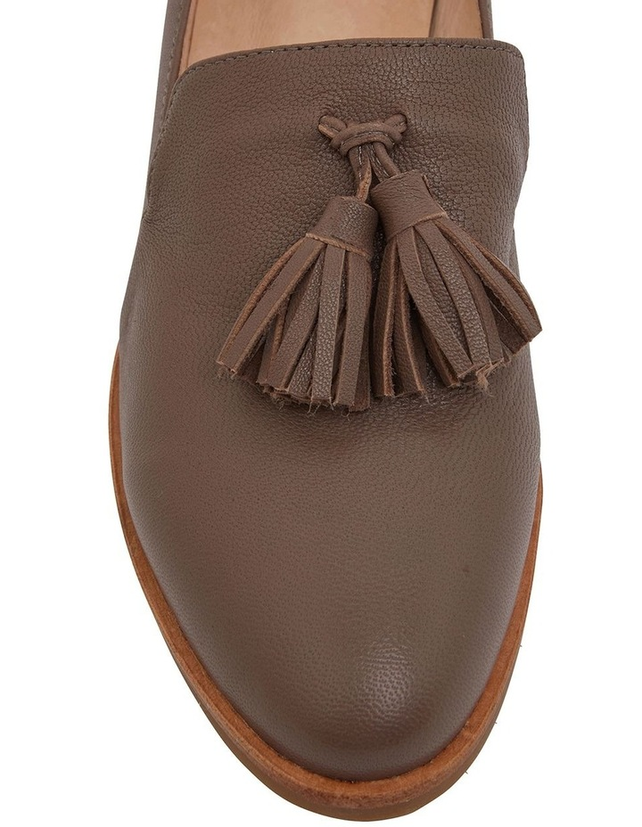 Salvador Taupe Glove Flat Shoes image 6