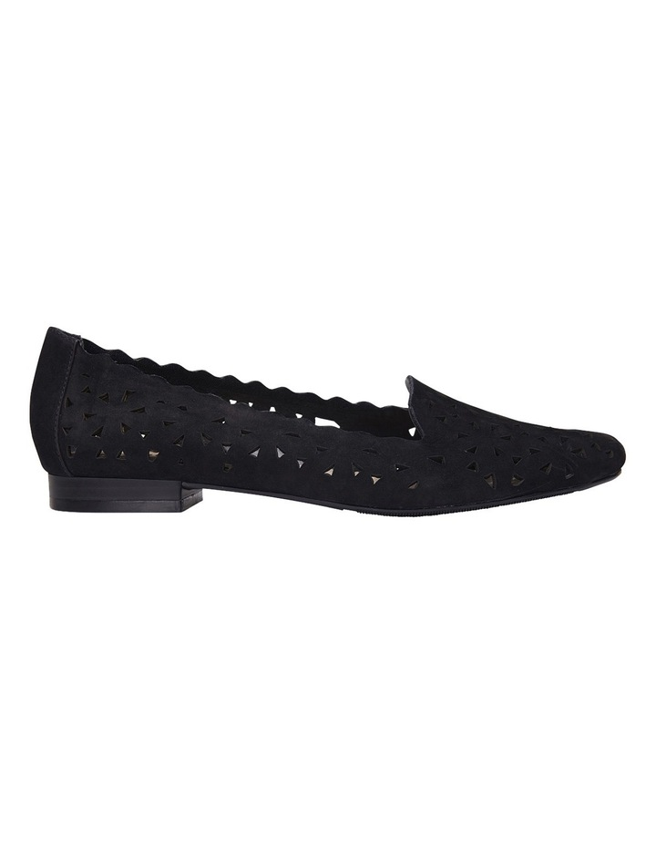Tempest Black Nubuck Flat Shoes image 1