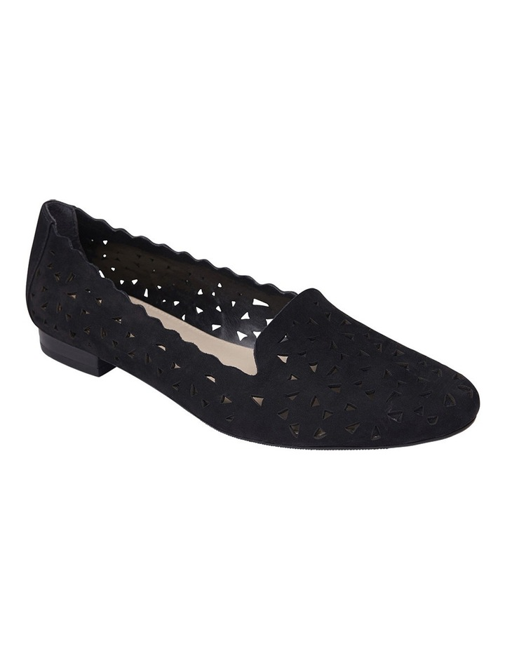 Tempest Black Nubuck Flat Shoes image 2