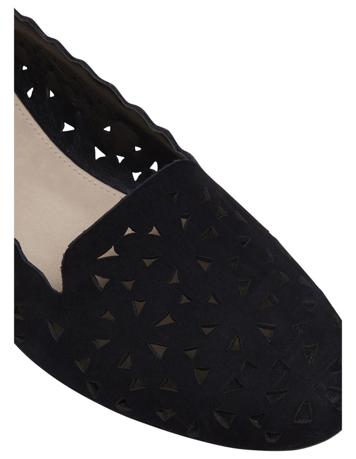 Tempest Black Nubuck Flat Shoes image 4