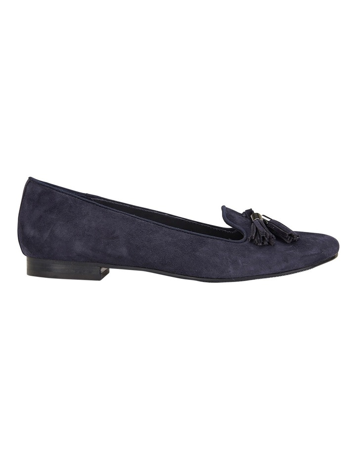 Taren Navy Suede Flat Shoes image 1