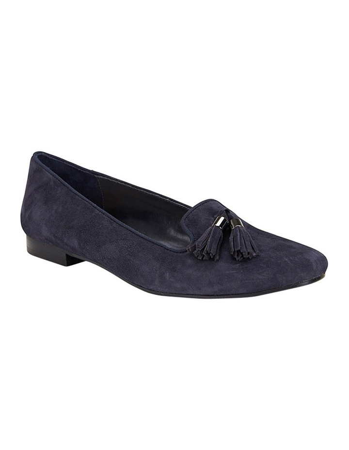 Taren Navy Suede Flat Shoes image 2