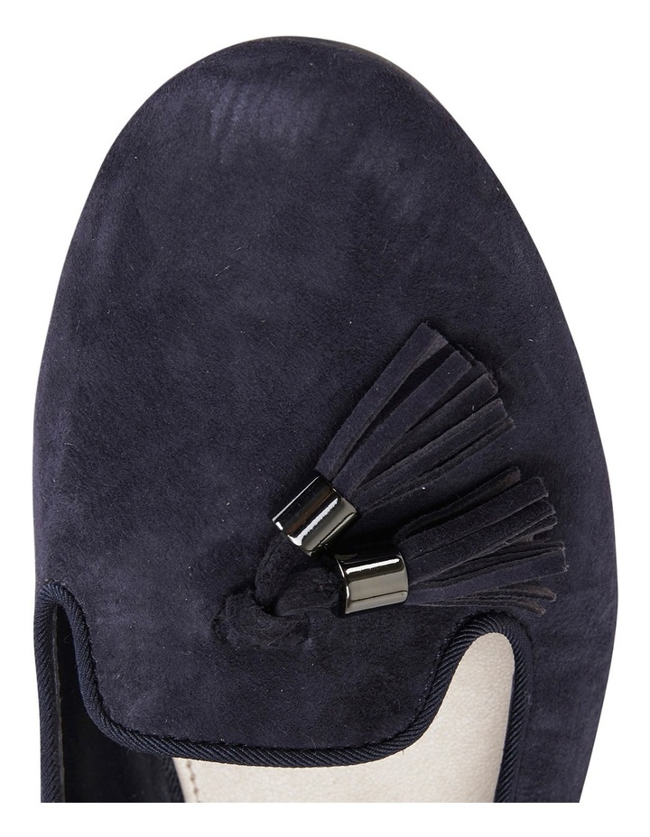 Taren Navy Suede Flat Shoes image 3