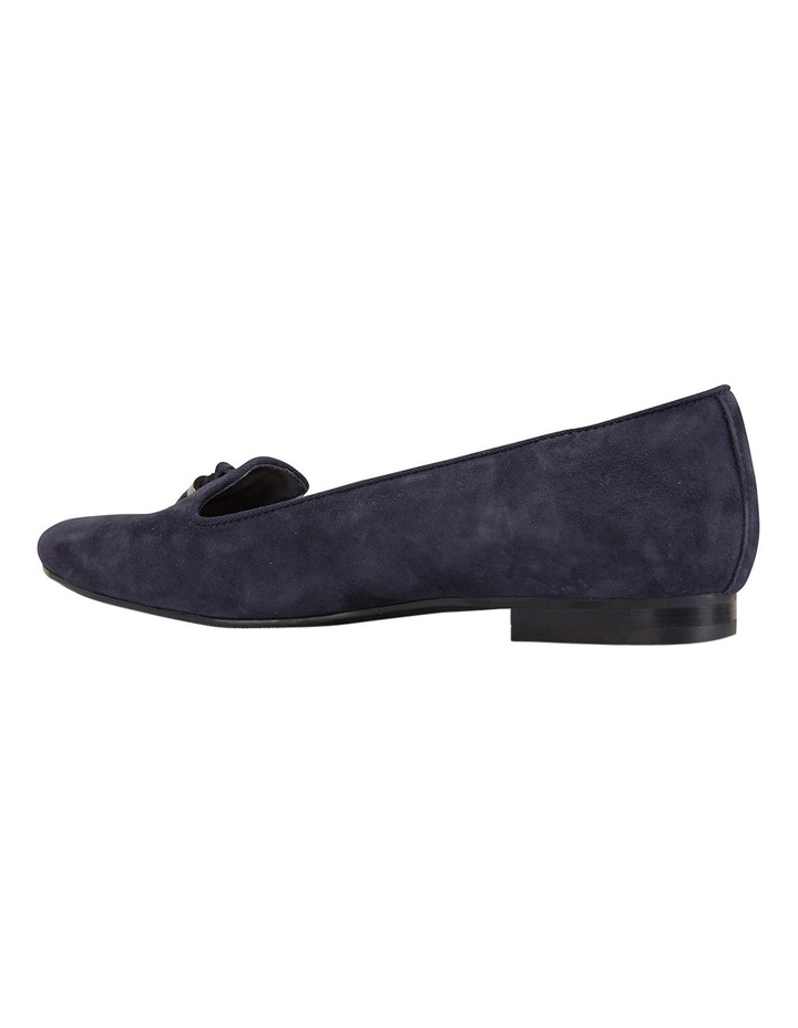 Taren Navy Suede Flat Shoes image 4