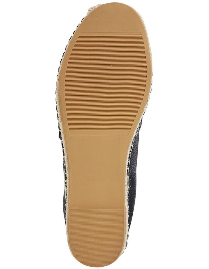 Bella Black Pebble Flat Shoe image 6
