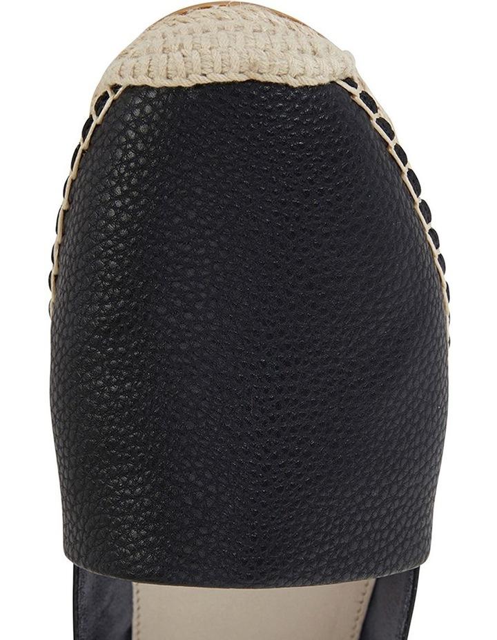 Bella Black Pebble Flat Shoe image 7