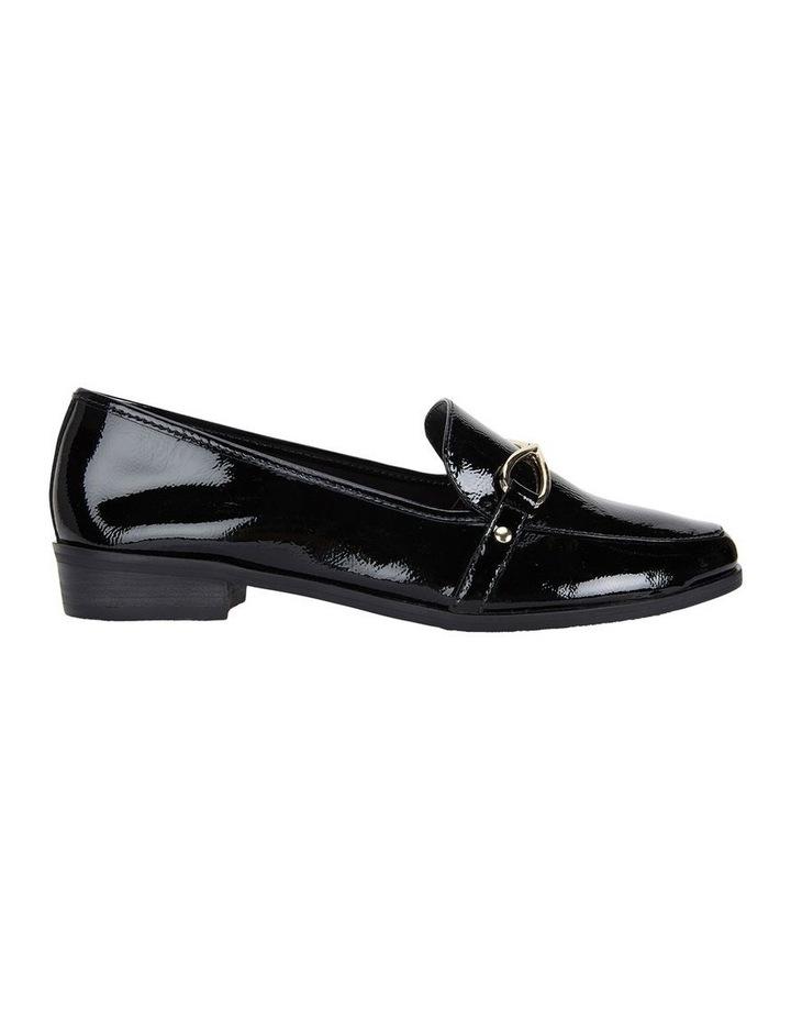 Sandler Tally Black Crinkle Patent Flat Shoe image 1