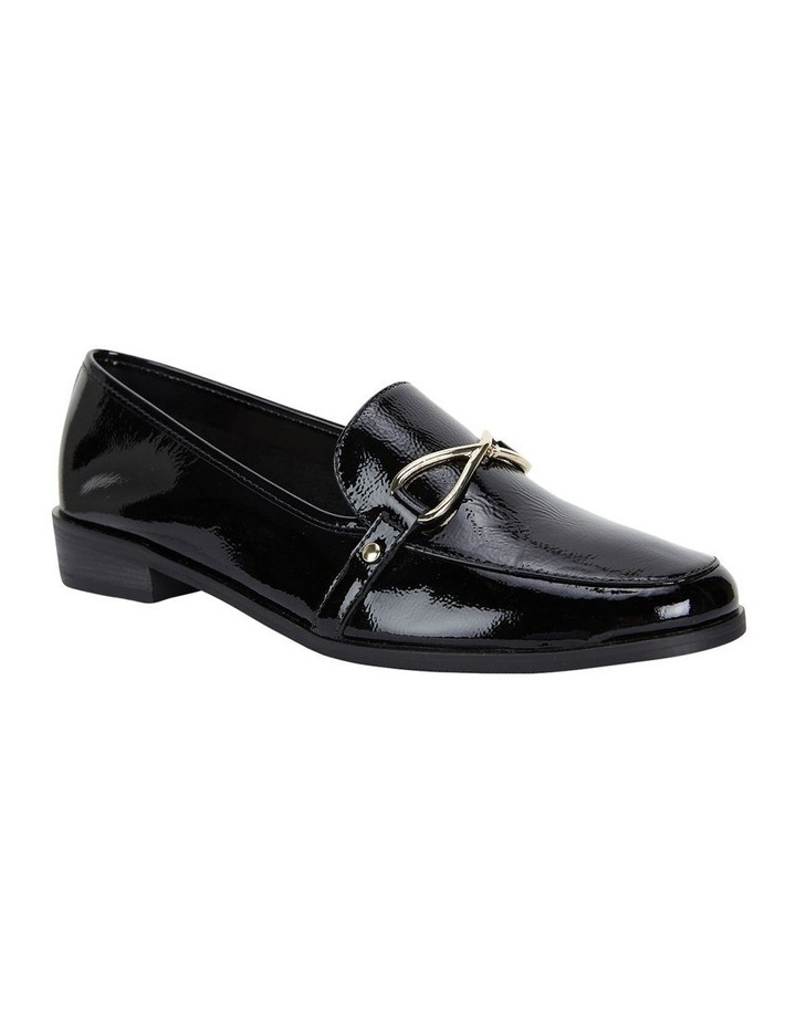 Sandler Tally Black Crinkle Patent Flat Shoe image 2