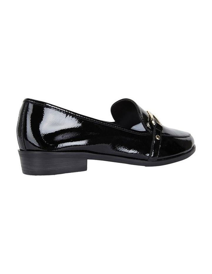 Sandler Tally Black Crinkle Patent Flat Shoe image 4