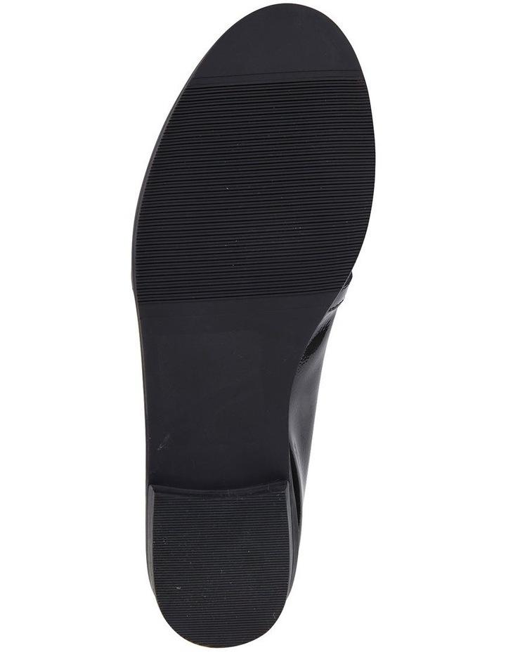 Sandler Tally Black Crinkle Patent Flat Shoe image 6