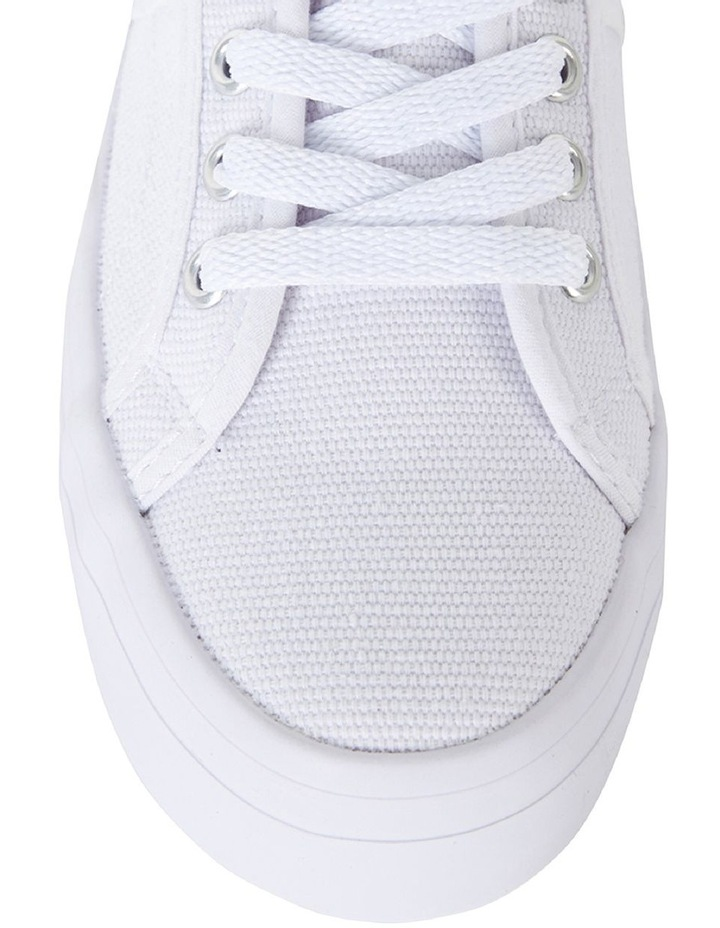 Sandler Scott White Canvas Sneaker image 7