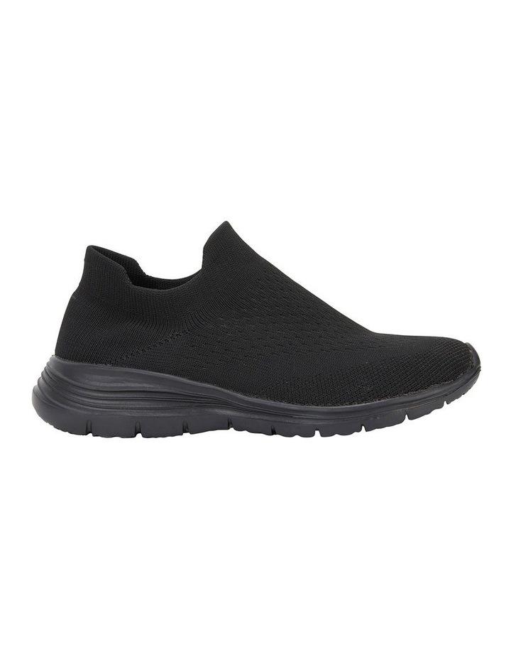 Woods Black Sole/ Black Weave Sneaker image 1