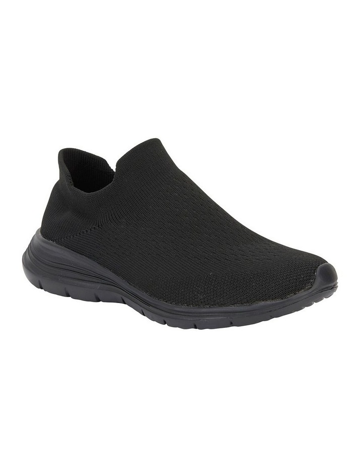 Woods Black Sole/ Black Weave Sneaker image 2