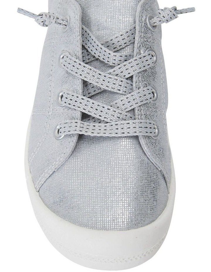 Link Silver Fabric Sneaker image 5