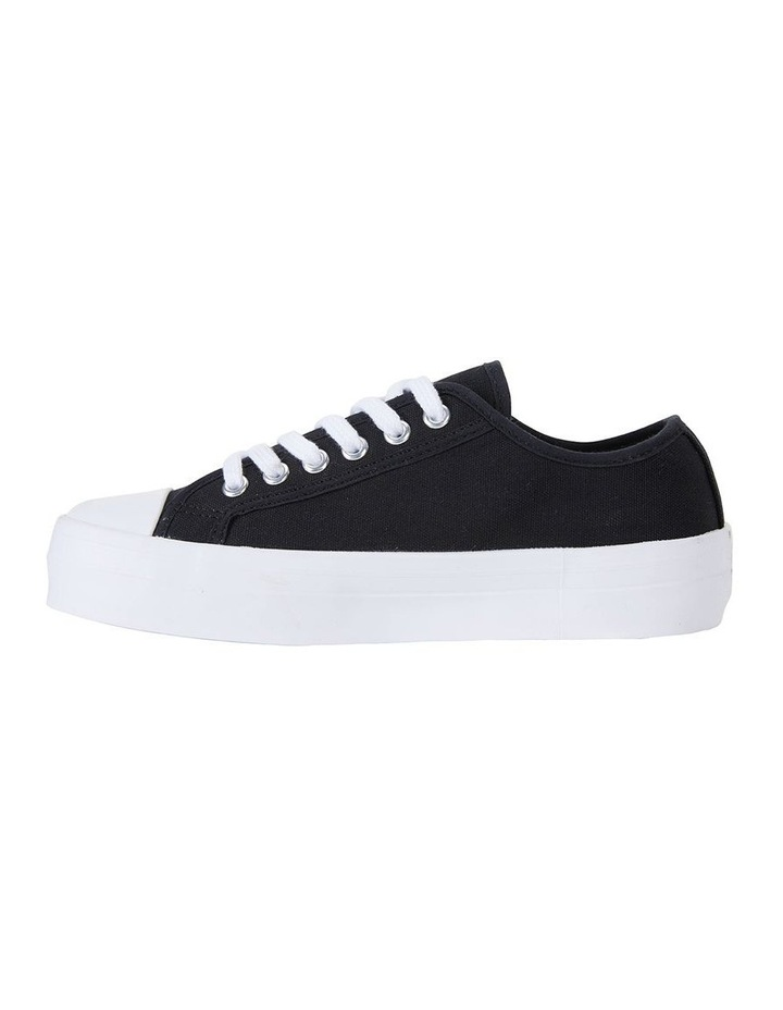 Stacey Black Canvas Sneaker image 3