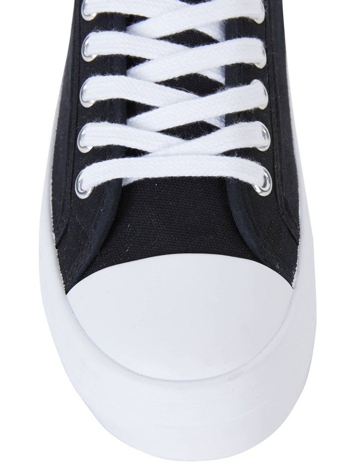 Stacey Black Canvas Sneaker image 5