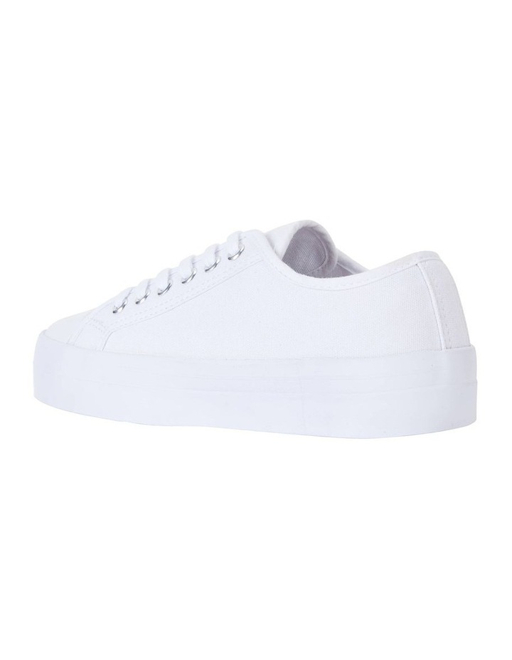 Stacey White Canvas Sneaker image 4