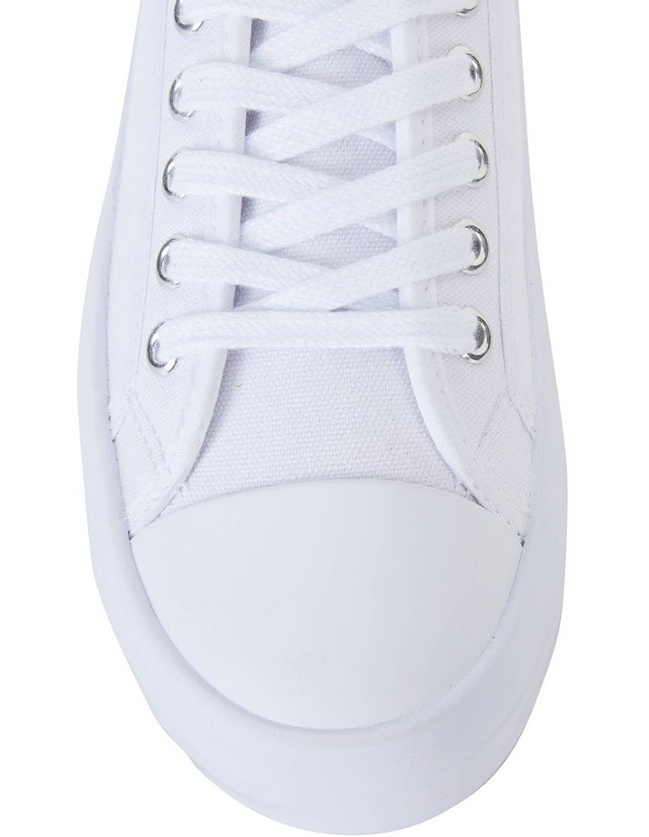 Stacey White Canvas Sneaker image 5