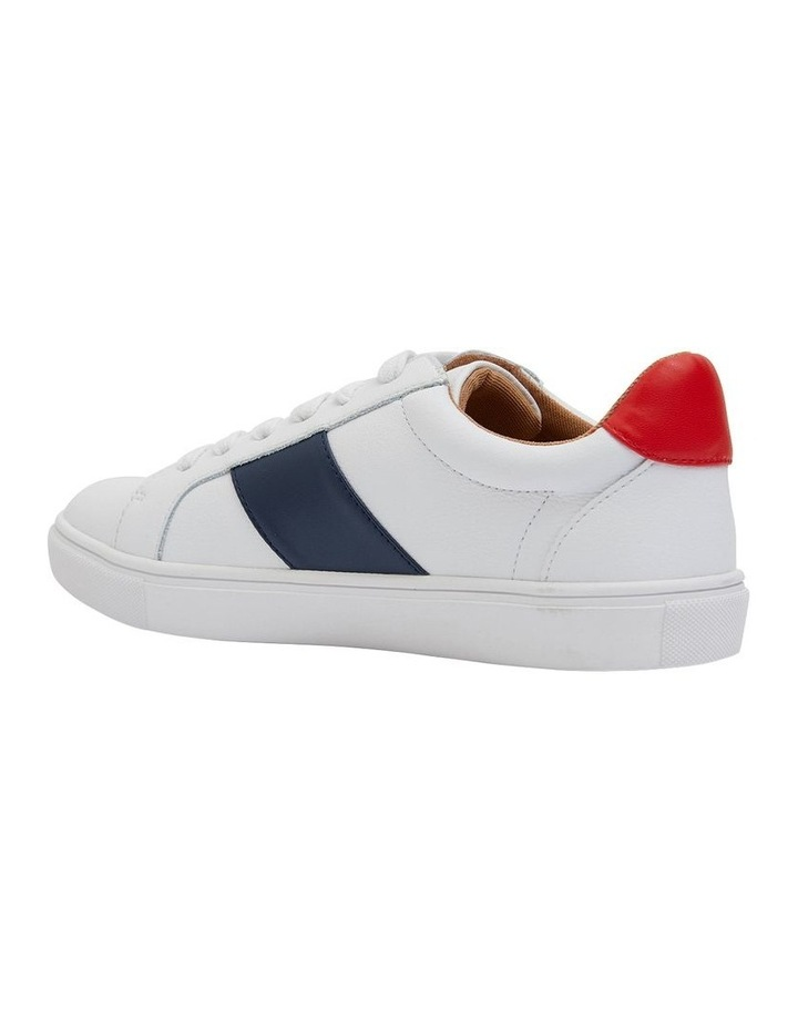 Storm White/ Navy/ Red Sneaker image 4
